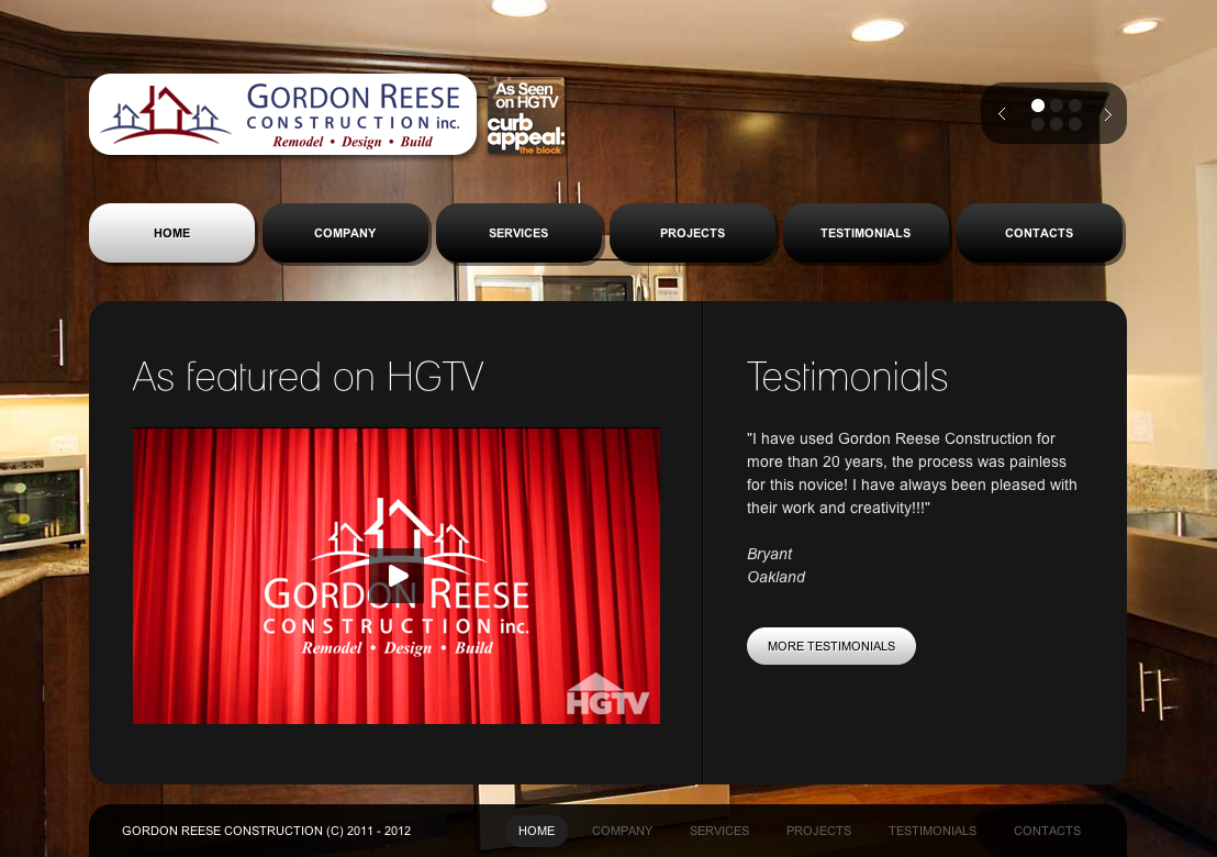 Ovizo Gordon Reese Construction Website