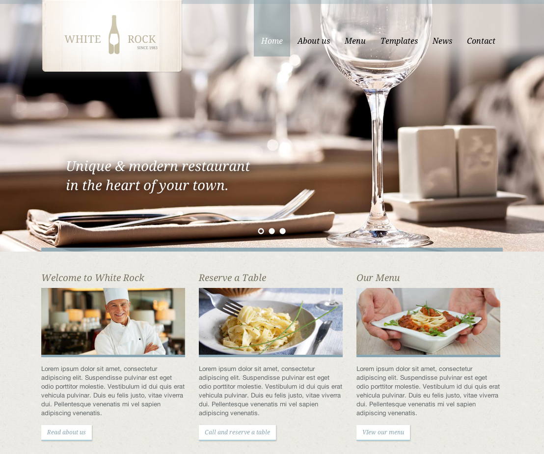 Ovizo Restaurant Website